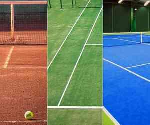 types of indoor tennis courts