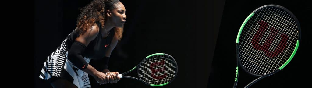 Serena williams with wilson tennis