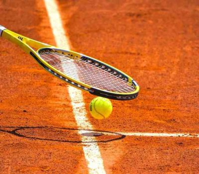 What are the parts of a tennis racket?