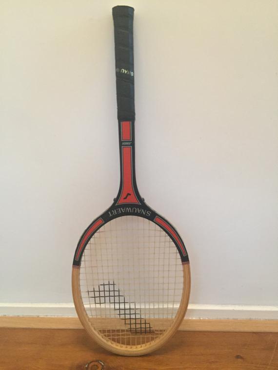 raqueta de madera y la historia de las raquetas de tenis
