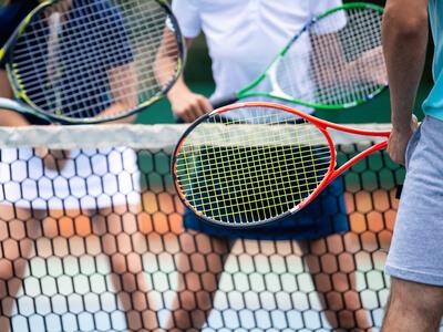 jugadores de tenis principiantes