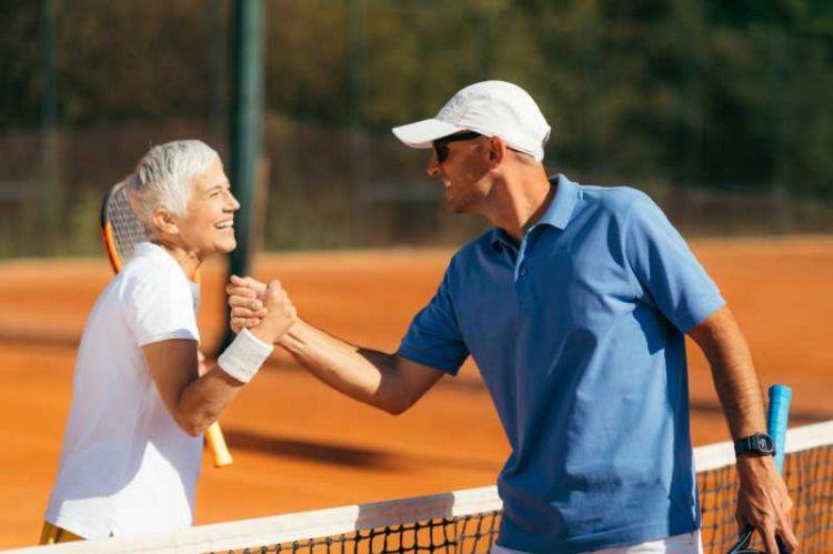 raqueteros de tenis de competición